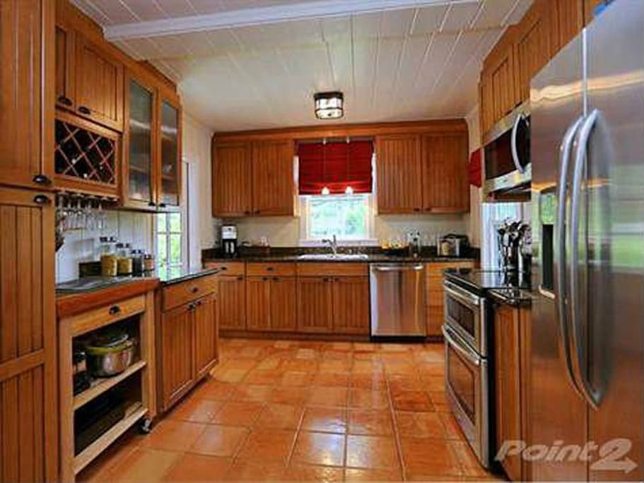 Large, fully stocked kitchen is available for your use.