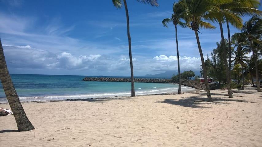 La plage est vraiment belle et peu fréquentée