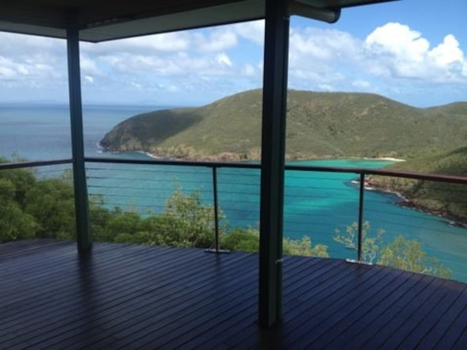 View of Basil Bay from house deck.