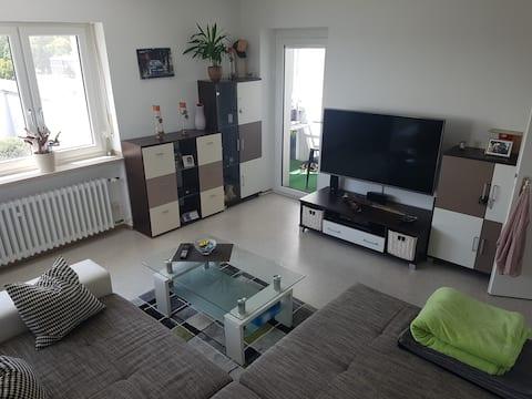 Lichtdurchflutete 2 Zimmer Wohnung mit 52qm