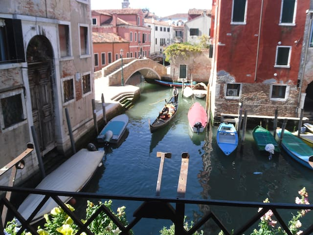 Magical view inside Venice.
