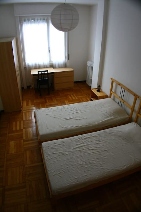 bedroom and studying area