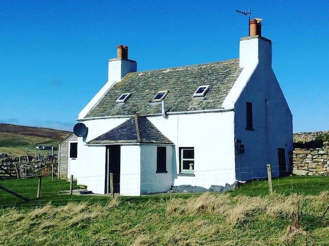 Traditional crofter's cottage  in peaceful Unst
