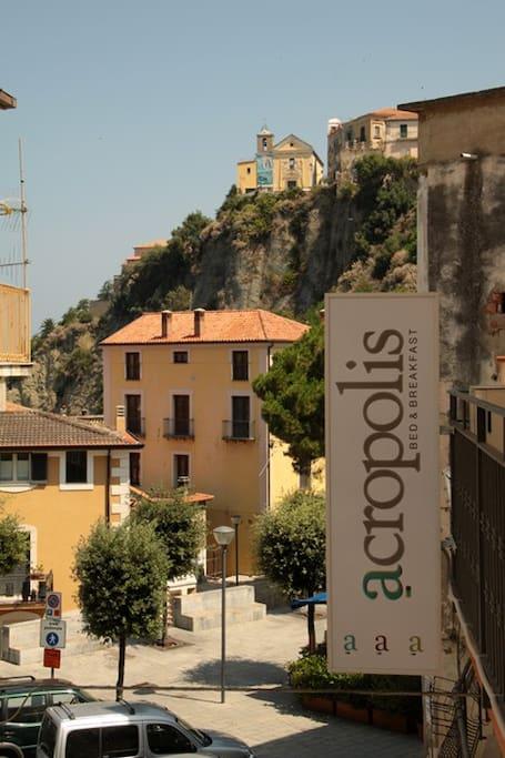 Il panorama dalle nostre camere, Ercula e Palo. dietro questi nome c'è la storia di Agropoli