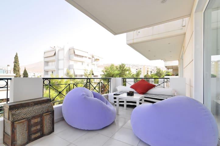 Superb Modern Flat - Glyfada Center - Glifada - Appartement