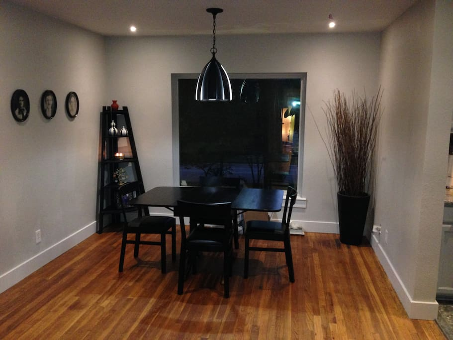 Dining area with picture window