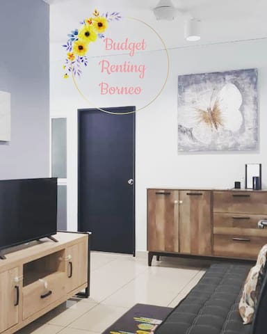 Living Room Area -Sofa Bed (Extra pillow & Blanket provided) -Flat TV with Astro Njoi (TV channel) -Board Games -Bluetooth Microphone -TV cabinet & shoe rack with Child safety lock
