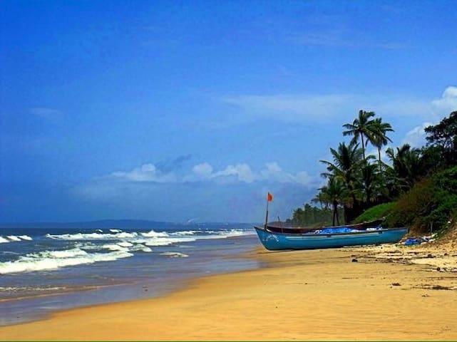 South Goa,wellfurnish balcony Apart. Zalor beach. - Квартира