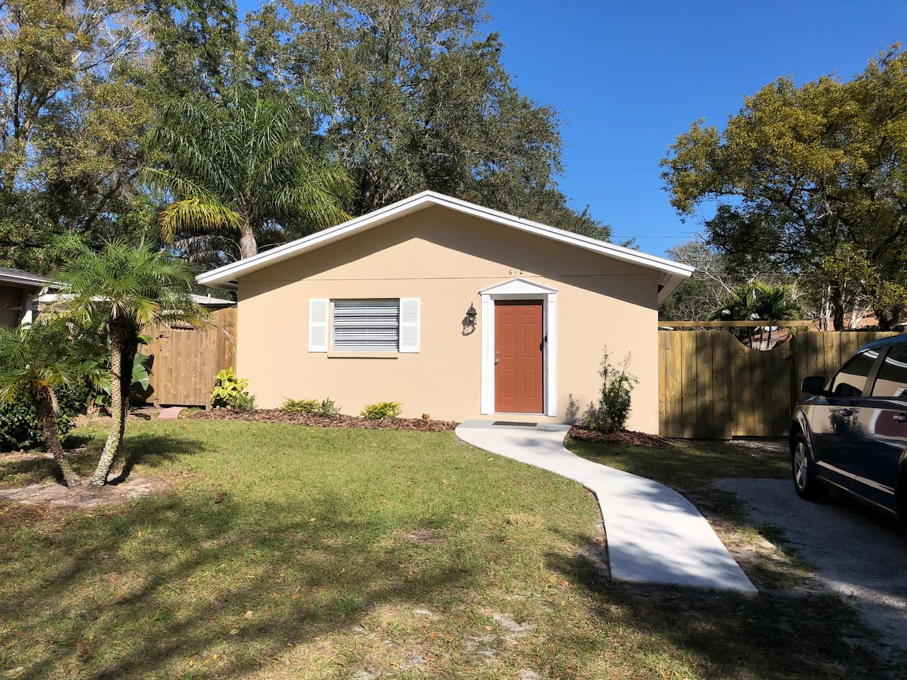 Fully remodeled rancher, granite counters & stainless appliances. Two bedroom, 2 full bath, washer/dryer. Fenced in backyard with grill!