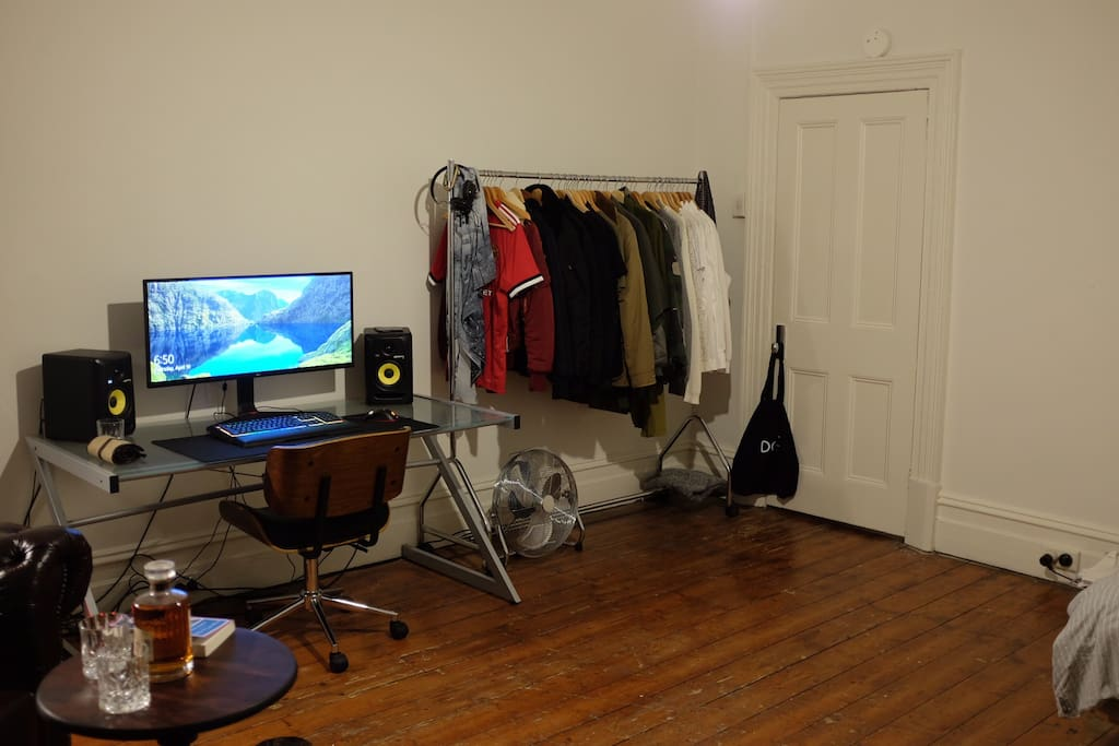 Computer Station & Clothes Racks