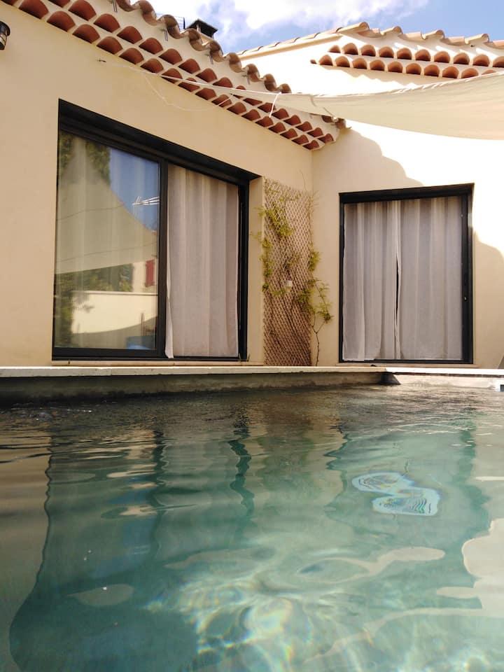 petite villa avec piscine