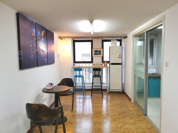 整租独套国际Soho城上海大学商圈高层Loft天文主题公寓