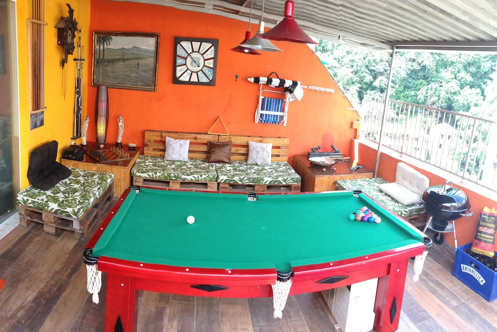 Pool table in Balcony
