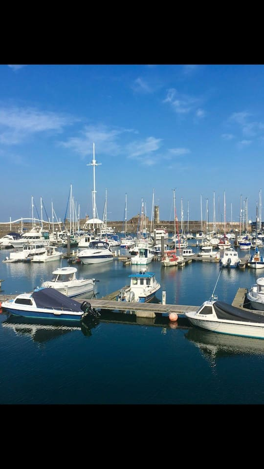 Whitehaven Marina. 2 minutes walk from the property