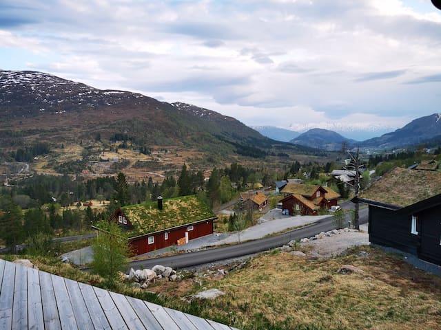 Hytte i flotte omgivelser på Harpefossen