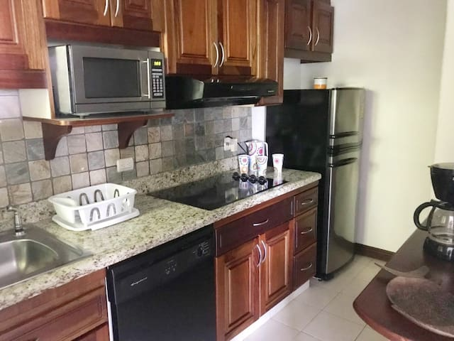 The kitchen is fully equipped so you can cook or choose to dine out every night