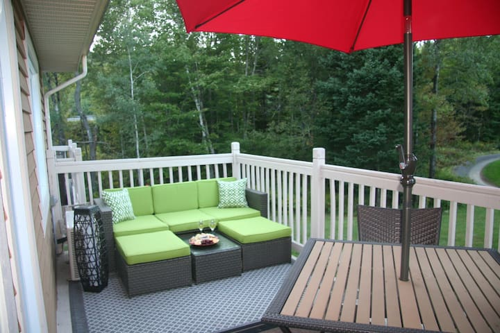 1BR Condo/king bed/BBQ/parking/wifi/fireplace