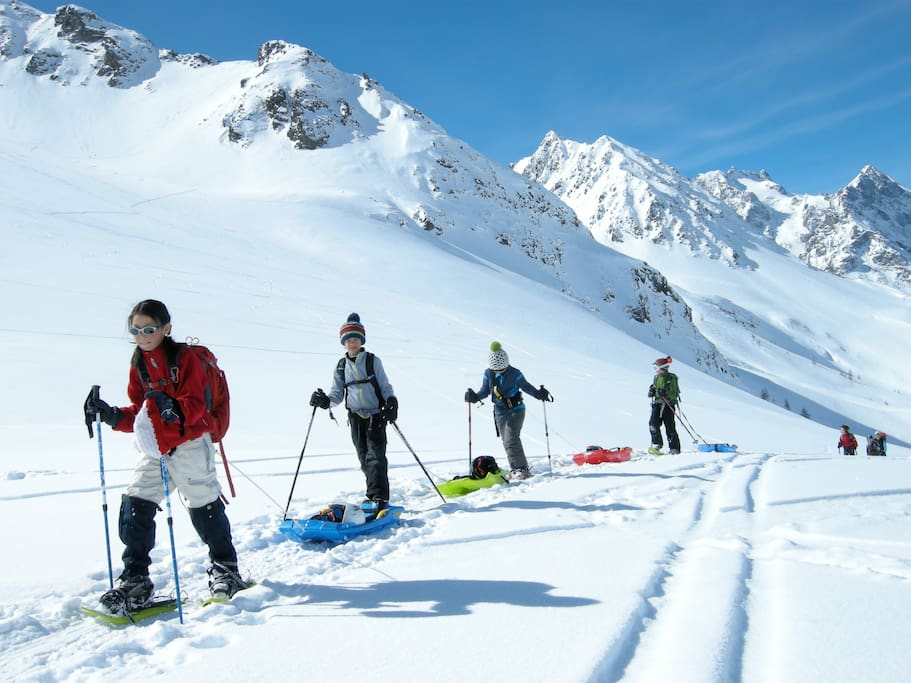 snowshoeing and stunning skiing on and off piste