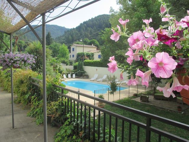 """Gîte """"Châtaigne"""" en Cévennes- piscine (en saison) - L'Estréchure - Apartamento"""