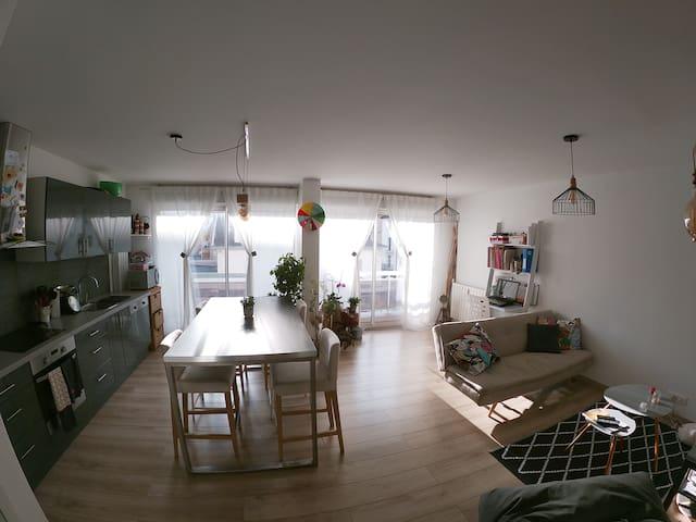 Appartement chaleureux et lumineux, proche Genève