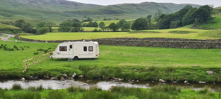 Touring sited Caravan in the Lake District