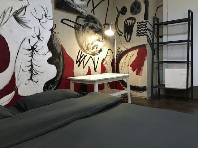 独立房间W|大风吹的艺术空间|艺术体验Art studio|美兰湖地铁Line7|别墅单间