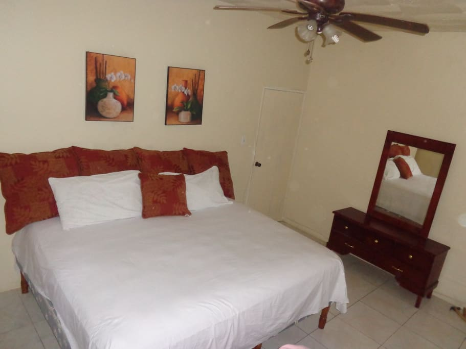 APARTMENT COMES WITH KING SIZE BED OR TWO SINGLE BED.