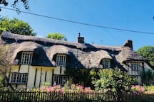 Our chocolate box thatched cottage