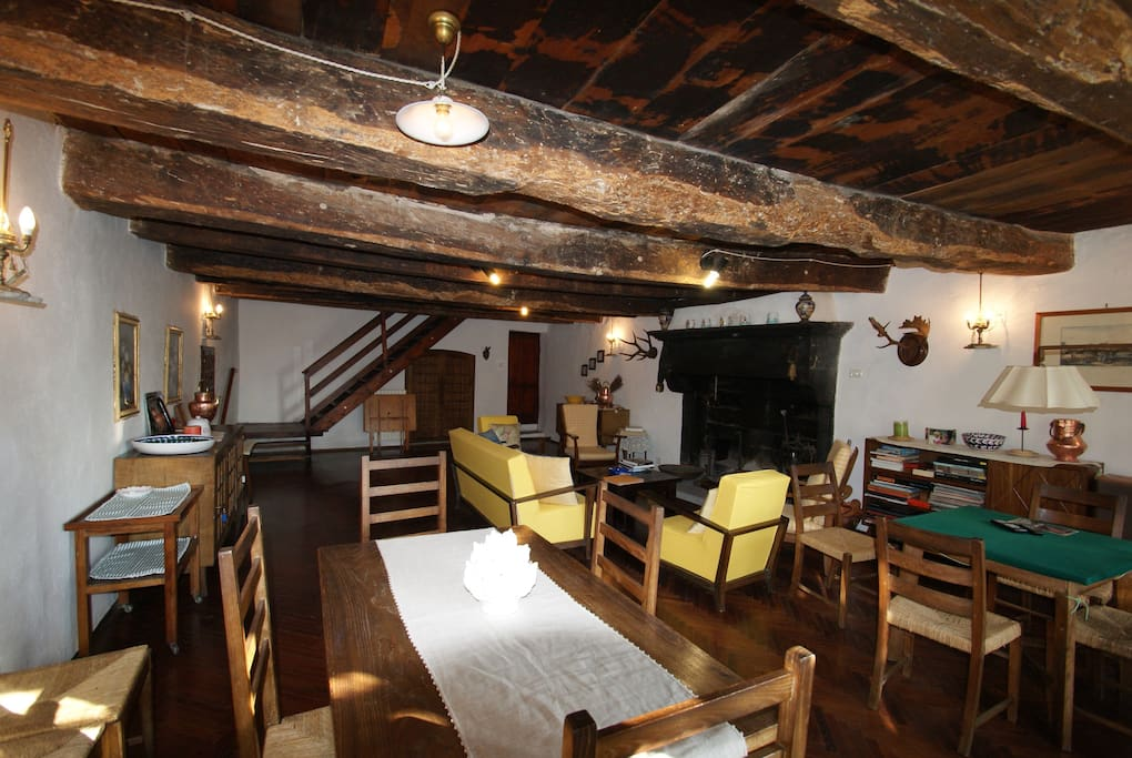 The living and dining room