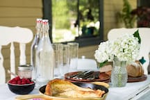 Inviting accommodations complete with farm fresh breakfast, made with produce from our garden.