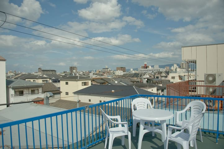 OSAKA-1 bed, 1stn to tennoji, local onsen, NEW!