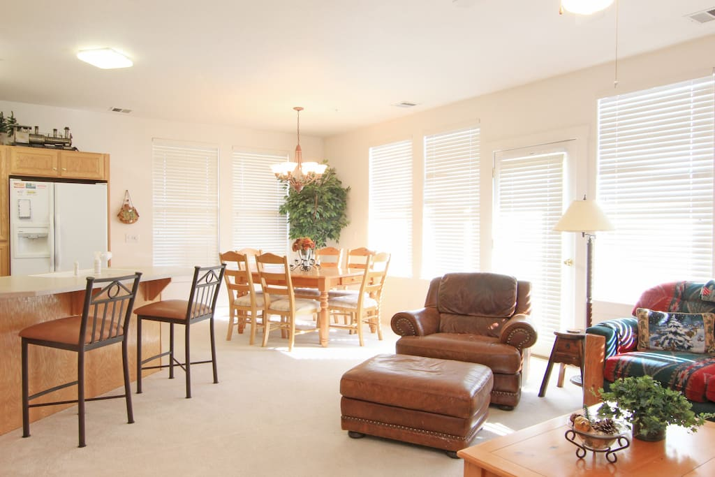 Living Room and Dining Room
