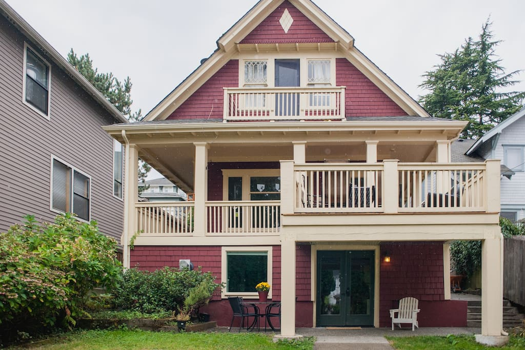 The apartment is on the first floor of our 1901 Craftsman home in the beautiful  and historic Madrona neighborhood.