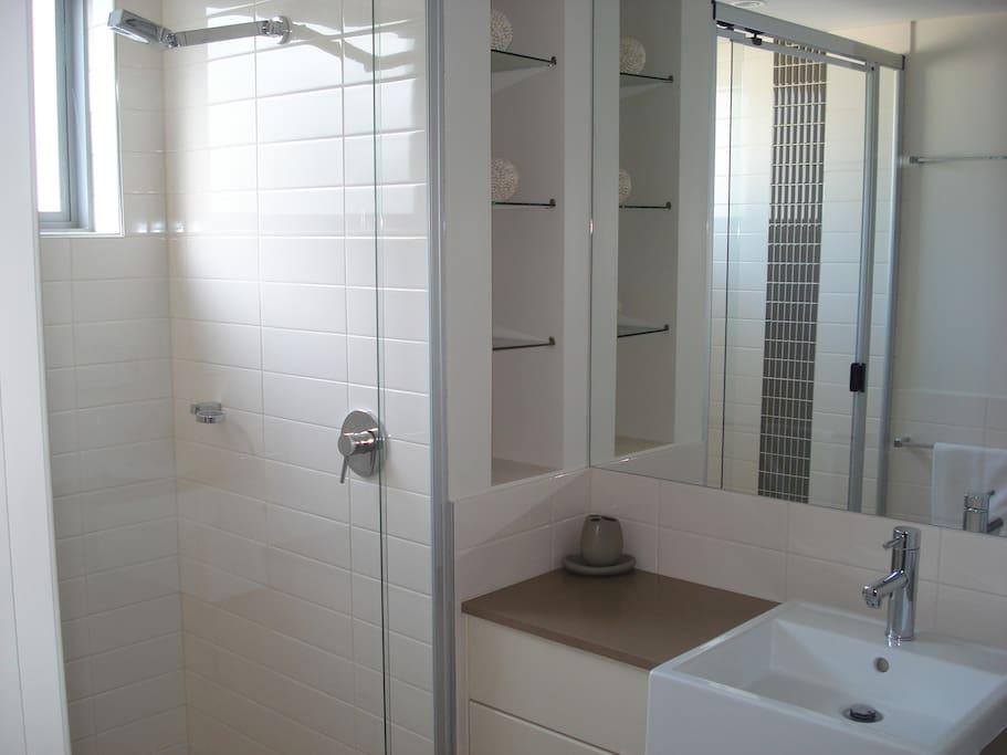 Modern bathrooms.