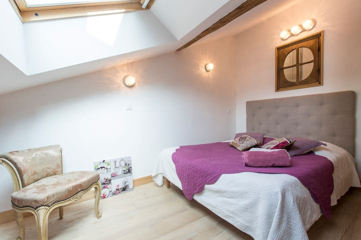 the Alps, cosy 2 rooms flat in medieval city - Albertville - Bed & Breakfast