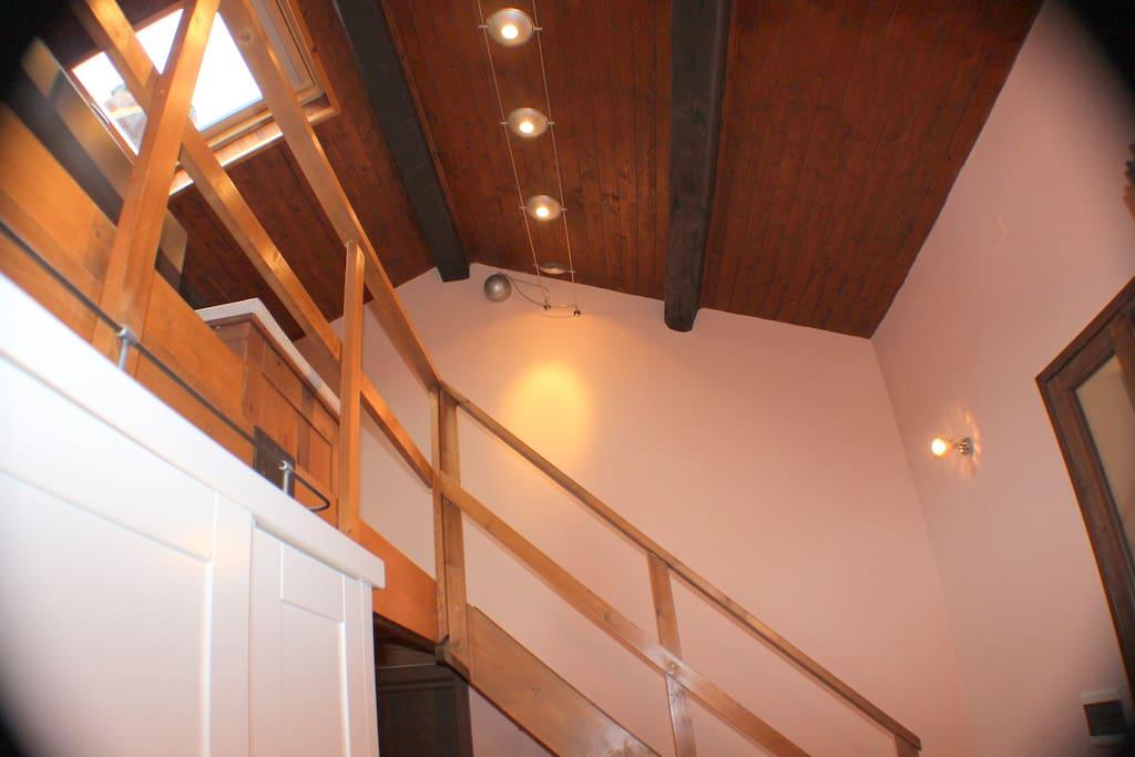 Stairway to bedroom level