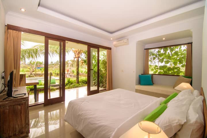 Spacious 2bedrooms Private Pool Endless Ricefield
