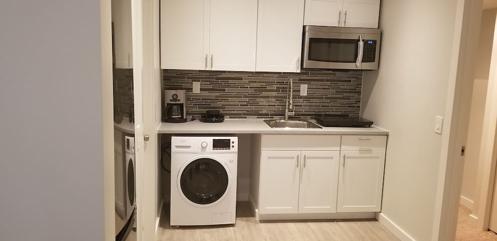 Kitchenette with vent less washer and dryer