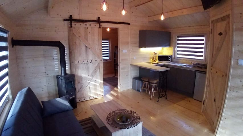 Drewniany domek w sercu Roztocza, cisza las rzeka - Zwierzyniec - Casa de hóspedes