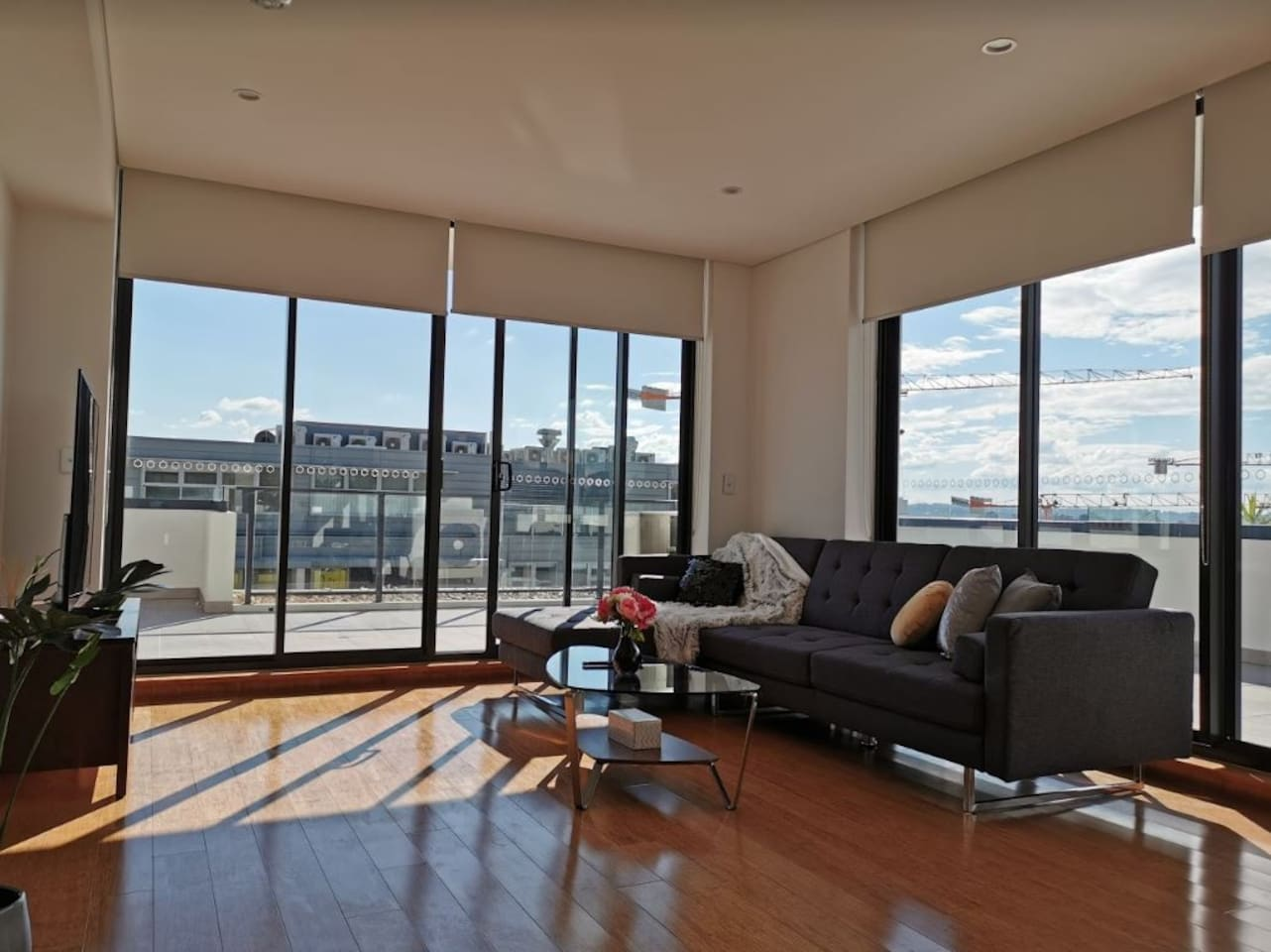 Living room leading to huge terrace