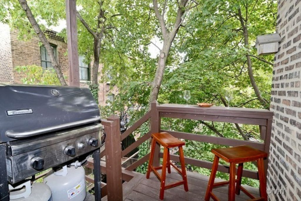 Grill and deck