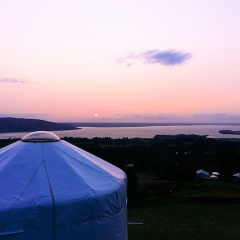Yurt en Patagonia Norte con vistas panorámicas
