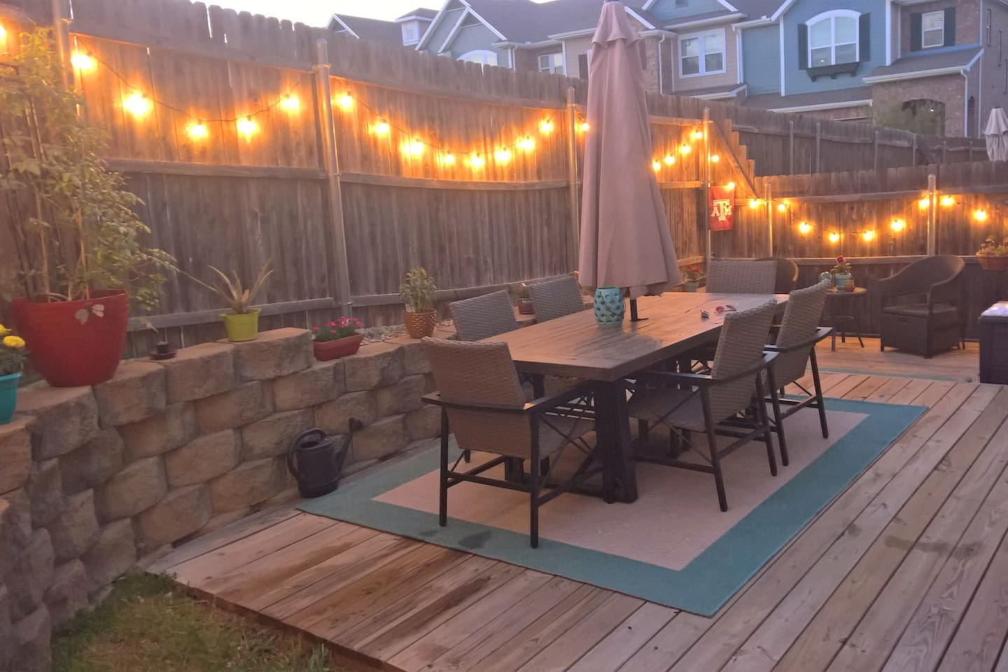 Outdoor patio with grill, perfect for relaxation or entertainment.