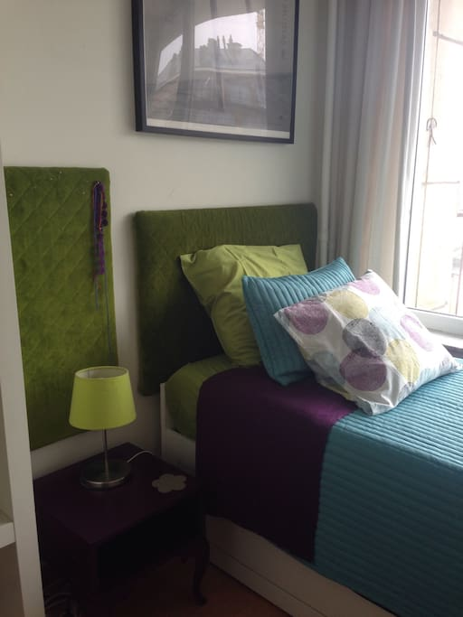 Bedroom - Bed and side table