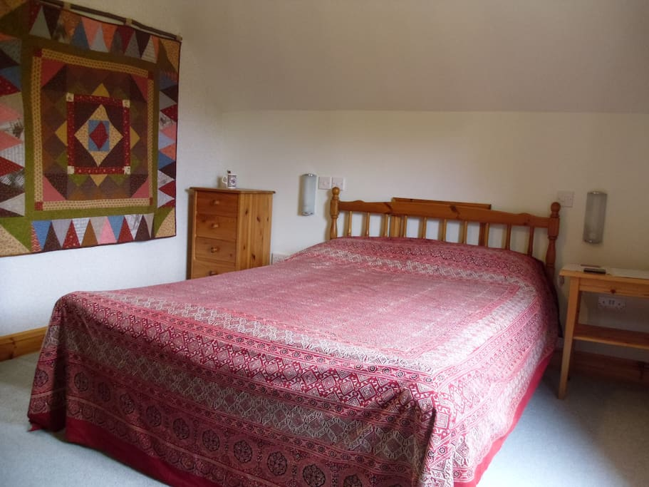 Double bedroom, a cot or extra mattress can be added if required.