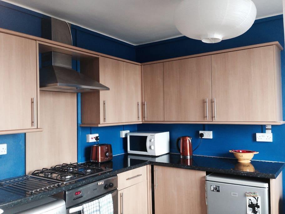 New blue kitchen!