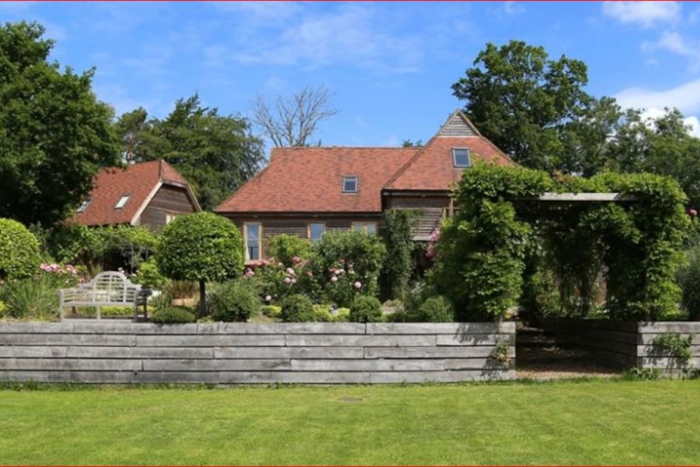 Large country house set in stunning walled gardens