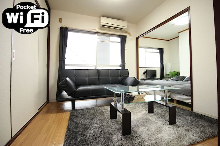 40sq Namba10min/Shinsaibashi10min☆Same Price UpTo6