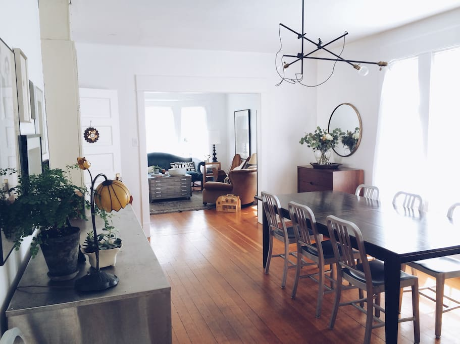 dining room, looking into living room