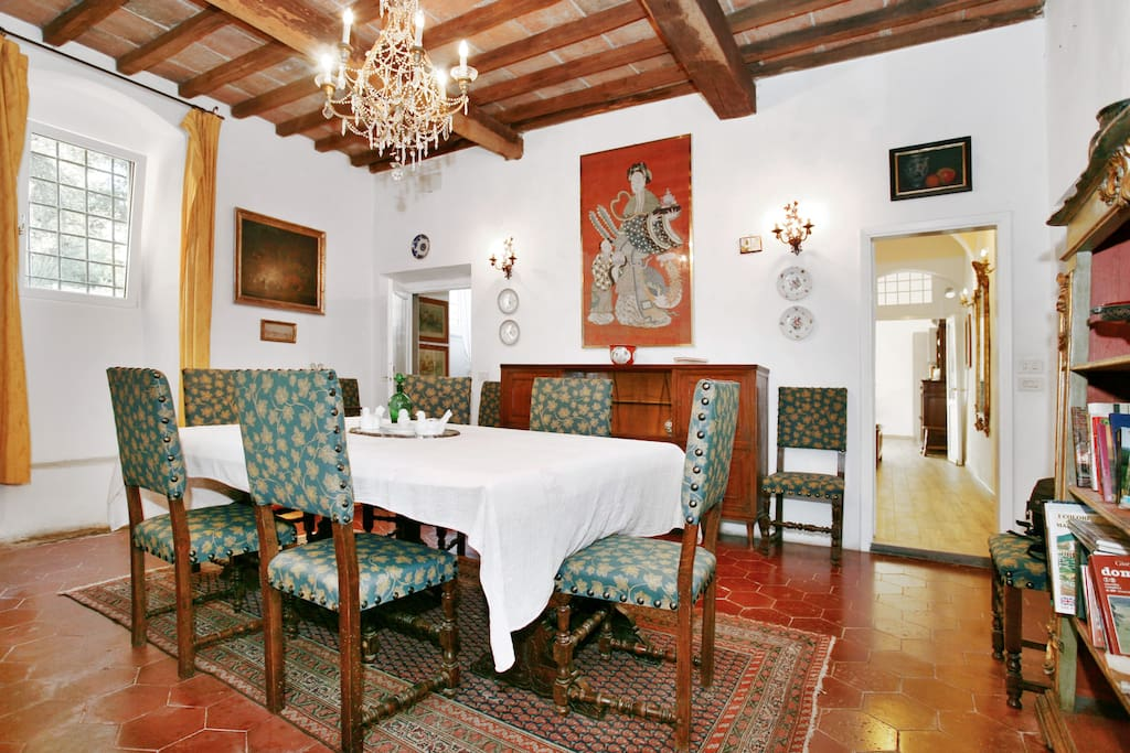 @ Il Molinaccio The dining room is very elegant and charming at ground floor